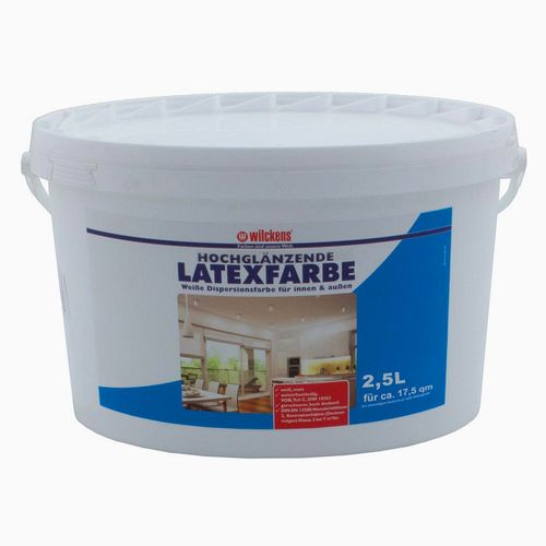 Latex Paint High-Gloss 2.5 liters Latex Painting Wilckens