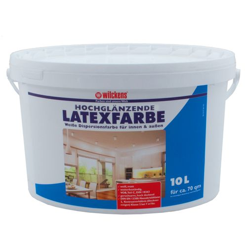 Latex Paint High-Gloss 10 liters Latex Painting Wilckens
