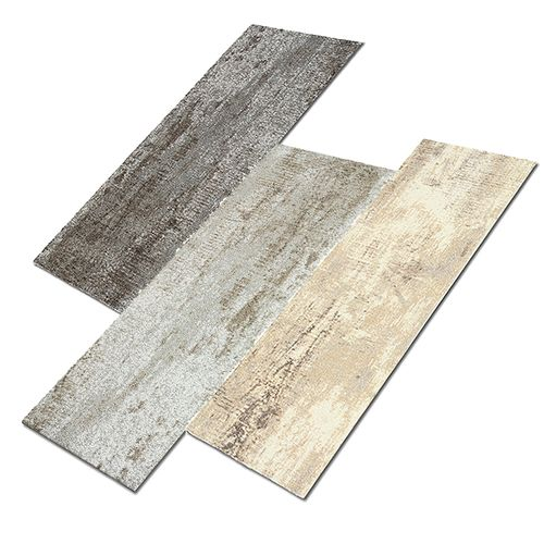 Heavy Duty Carpet Tile Rug Wood Grain Design 100x25 cm