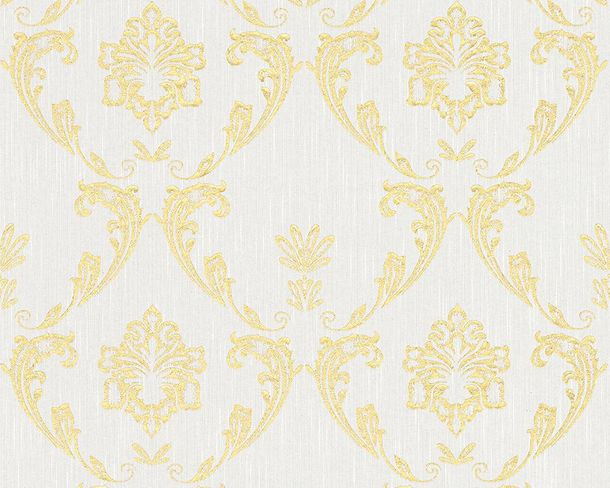 Textile Wallpaper ornament white gold Architects Paper 30658-1