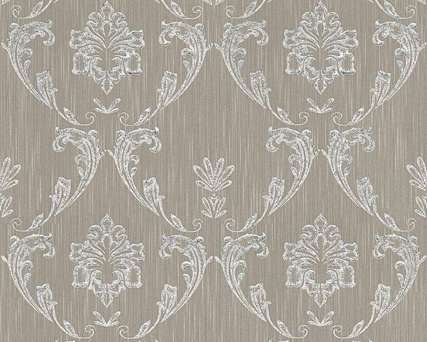Textile Wallpaper ornament taupe Architects Paper 30658-3