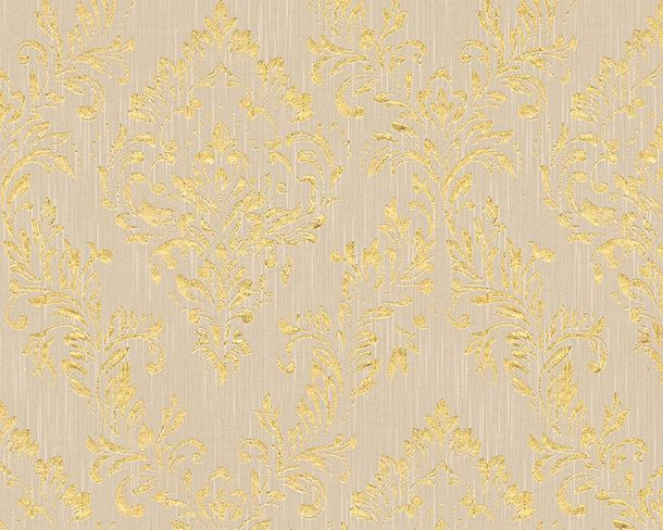 Textile Wallpaper baroque grey gold Architects Paper 30659-2