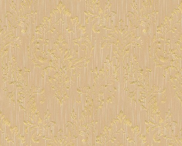 Textile Wallpaper baroque beige gold Architects Paper 30659-4