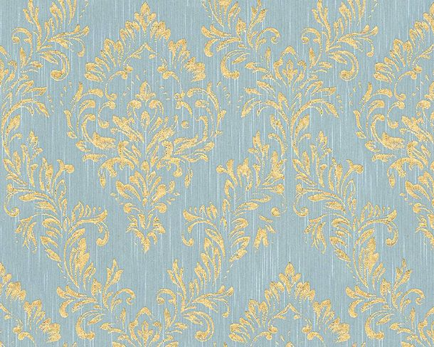 Textile Wallpaper baroque blue gold Architects Paper 30659-5 online kaufen