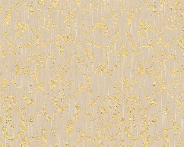 Textile Wallpaper ornament grey gold Architects Paper 30660-2 online kaufen
