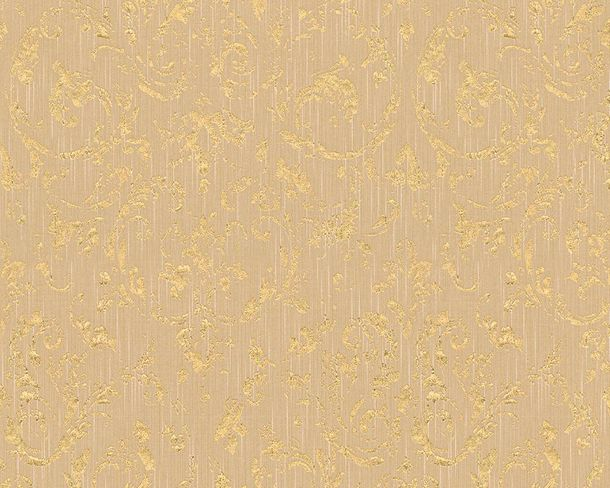 Textile Wallpaper ornament beige gold Architects Paper 30660-3