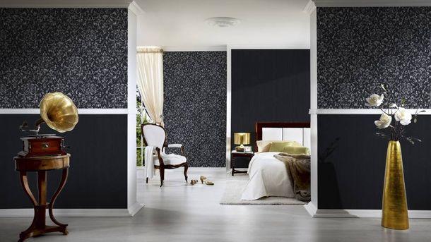 Textiltapete Ornament schwarz silber 30660-6 online kaufen