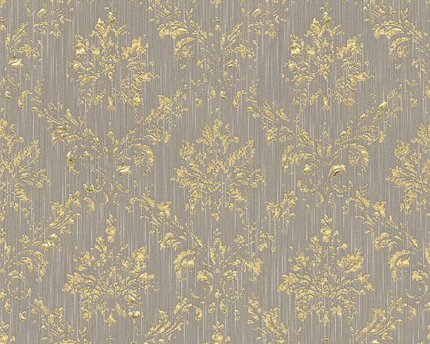 Textile Wallpaper baroque taupe gold Architects Paper 30662-5