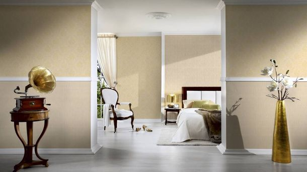 Textile Wallpaper plain cream beige Architects Paper 9651-58 online kaufen