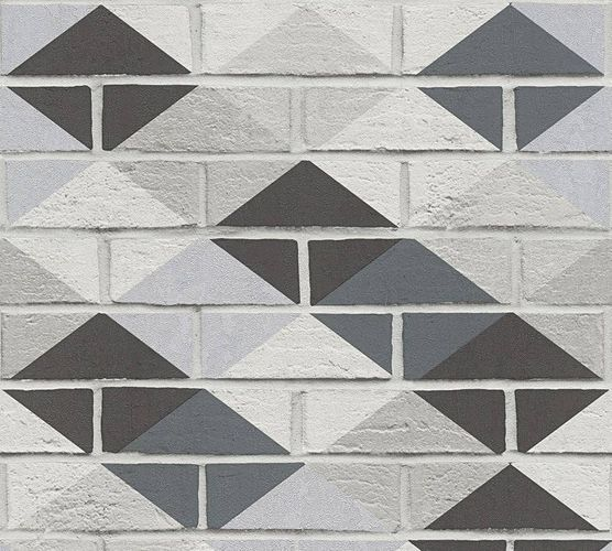 Kitchen Wallpaper stone wall ethno grey black gloss 33088-1 online kaufen