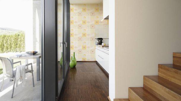 Non-Woven Wallpaper plain design beige 3365-38 online kaufen
