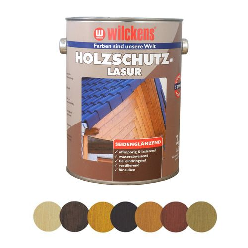 Wood Stain Protection Glaze 5 litres 7 colours Wilckens