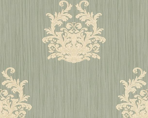 Wallpaper baroque grey green Gloss Architects Paper 95861-2