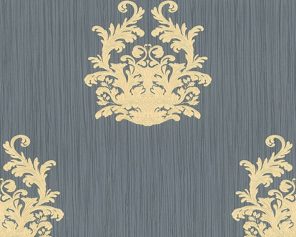 Wallpaper baroque anthracite Gloss Architects Paper 95861-5