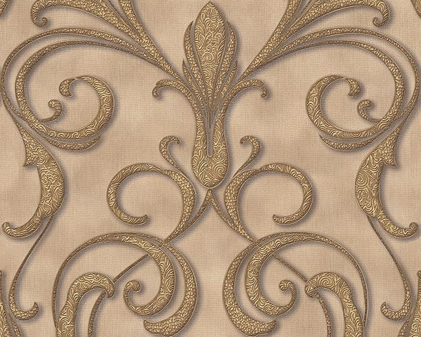 Wallpaper ornaments beige brown Gloss Architects Paper 95892-1
