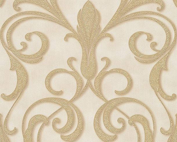 Wallpaper ornaments cream Gloss Architects Paper 95892-5