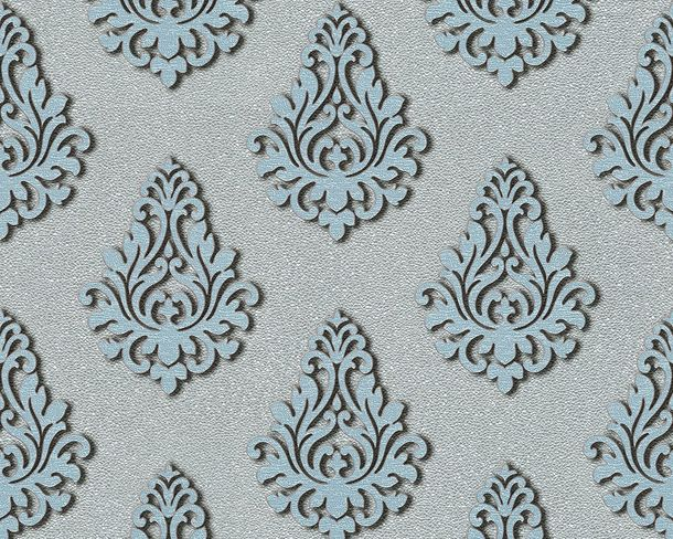 Wallpaper baroque silver Gloss Architects Paper 95981-6 online kaufen