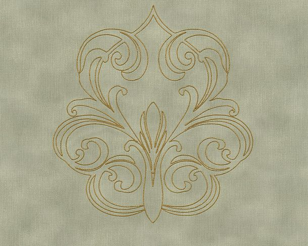 Wallpaper Panel baroque green Gloss Architects Paper 96983-4 online kaufen