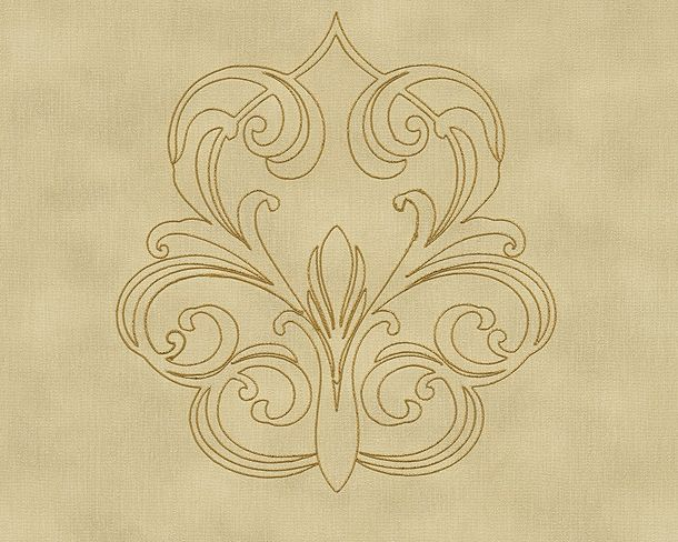 Wallpaper Panel baroque beige gold Gloss Architects Paper 96983-5