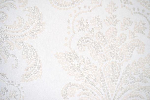Vliestapete Fuggerhaus Barock Mosaik weiß Glitzer 4789-11 online kaufen