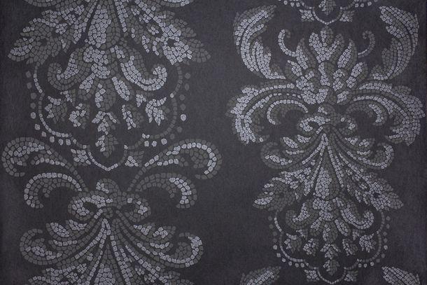 Vliestapete Fuggerhaus Barock Mosaik schwarz Glitzer 4789-35 online kaufen