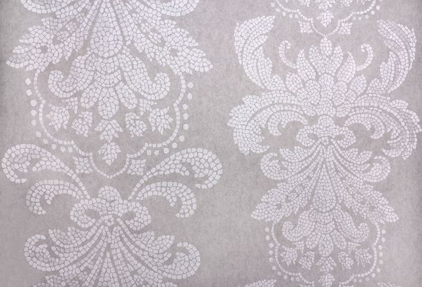 Wallpaper Fuggerhaus baroque mosaic grey Glitter 4789-42