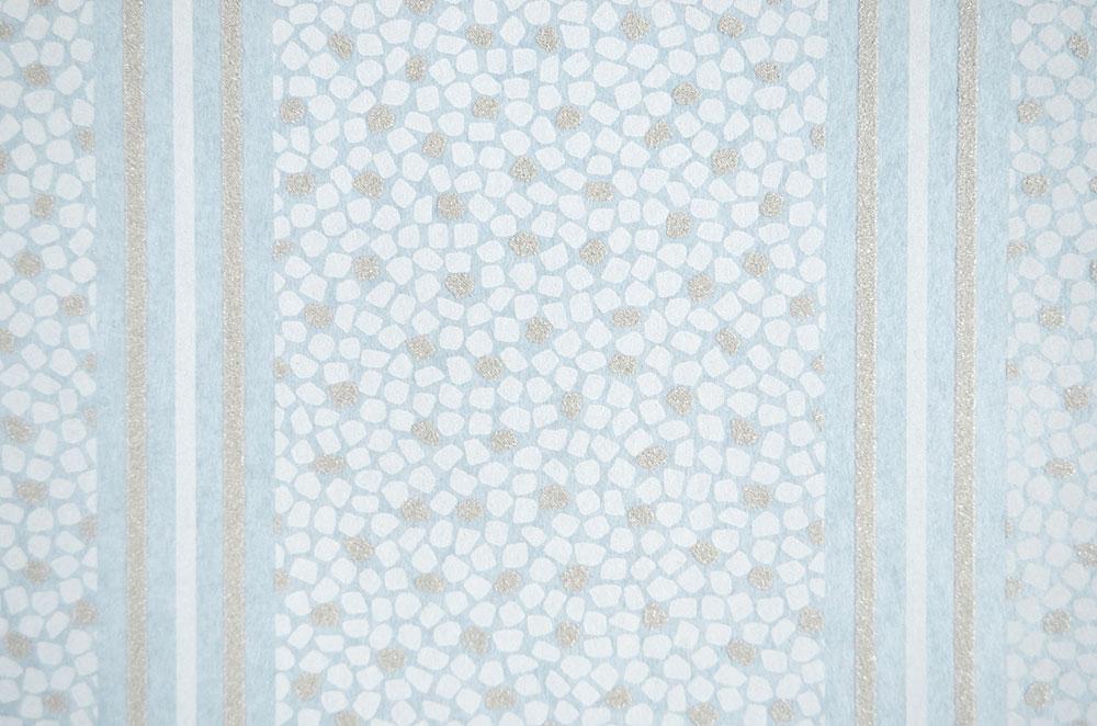 Vliestapete fuggerhaus streifen mosaik hellblau glitzer for Tapete hellblau muster