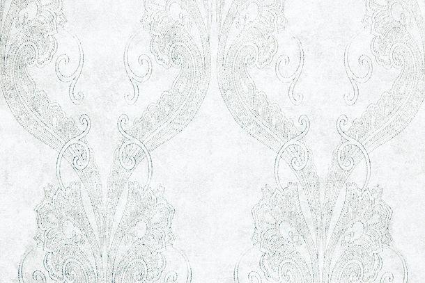 Vliestapete Fuggerhaus Ornamente graublau Glanz 4785-15 online kaufen