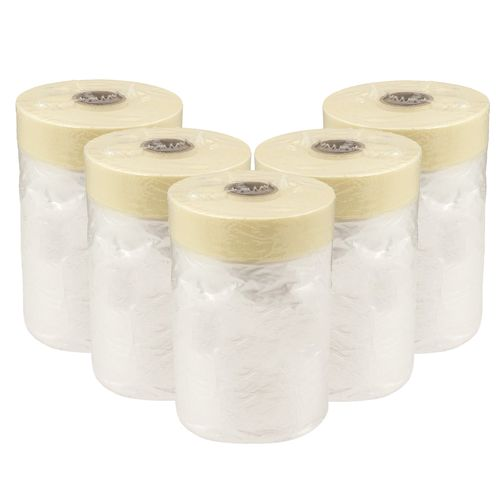 Set of 5 Combi-Masking Tape with Dust Sheet 55cm x 20m online kaufen