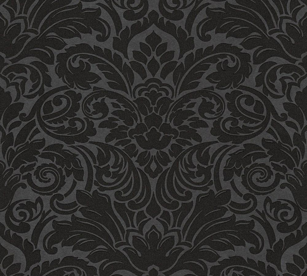Tapete glasperlen barock schwarz architects paper 30545 5 for Tapete barock