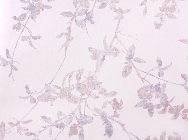Wallpaper Fuggerhaus leaf purple Metallic 4808-22