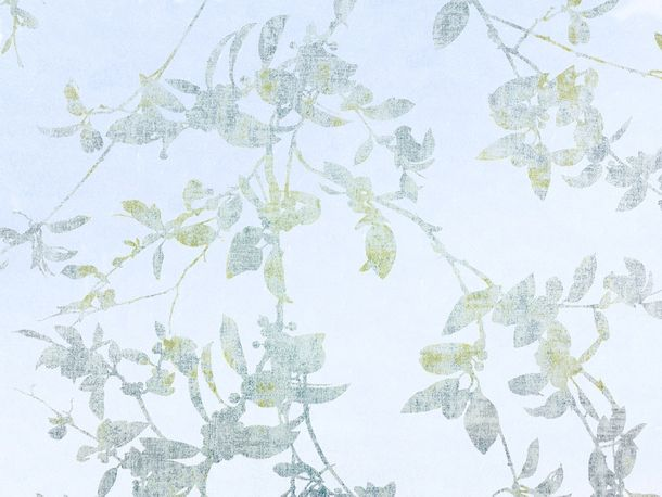 Wallpaper Fuggerhaus leaf light blue Metallic 4808-39