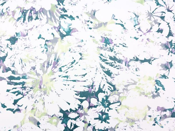Wallpaper Fuggerhaus flower watercolour petrol 4810-34 online kaufen