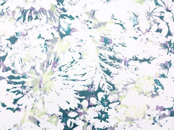 Vliestapete Fuggerhaus Blumen Aquarell petrol 4810-34 online kaufen