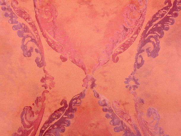 Vliestapete Fuggerhaus Ornament rot 4811-02
