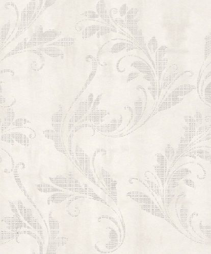 Wallpaper Rasch Textil tendril floral white 228051