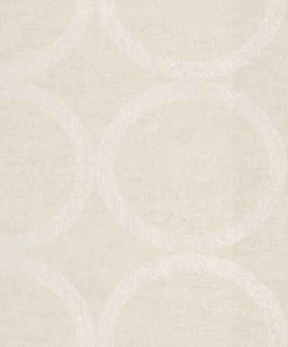 Wallpaper Rasch Textil circle beige gloss 228150