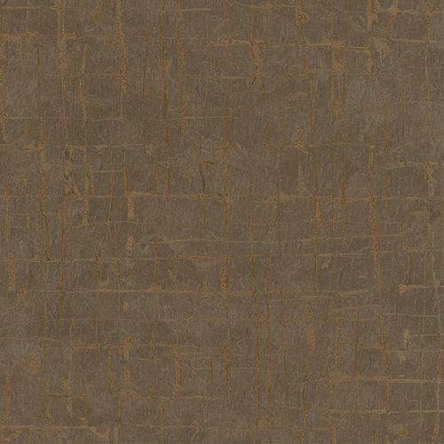 Wallpaper Dieter Langer textured brown gloss 58809