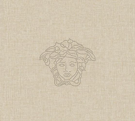 Wallpaper panel Versace Home Medusa linen beige 32950-2