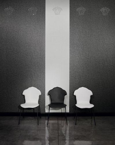 Wallpaper panel Versace Home Medusa linen anthracite 32950-4 online kaufen