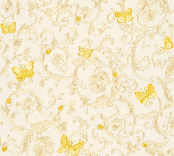 Wallpaper Versace Home tendril white gold glitter 34325-1 online kaufen