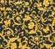 Vliestapete Versace Home Ranken schwarz gelbgold Glitzer 34325-2 1