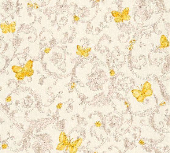 Tapete Versace Ranken weiß gelborange Glitzer 34325-3 online kaufen