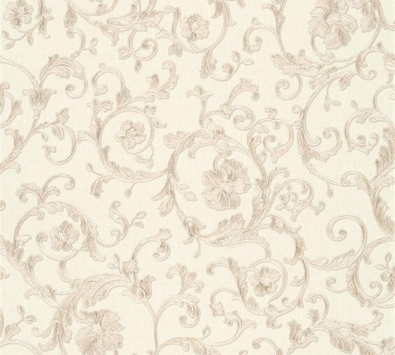Wallpaper Versace Home floral white grey glitter 34326-3