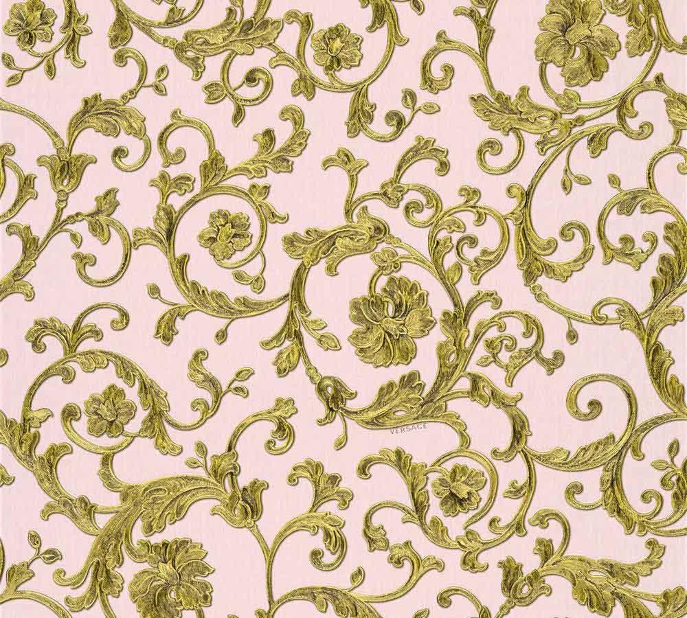 tapete versace home floral ros gold glitzer 34326 4. Black Bedroom Furniture Sets. Home Design Ideas