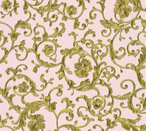 Wallpaper Versace Home floral rosé gold glitter 34326-4