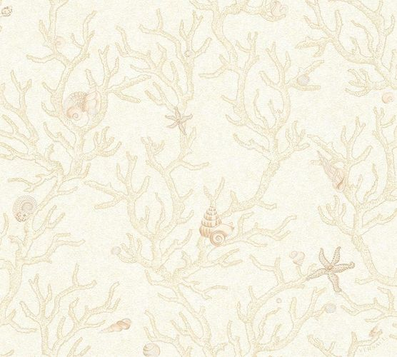 Wallpaper Versace Home coral shells beige cream 34496-1