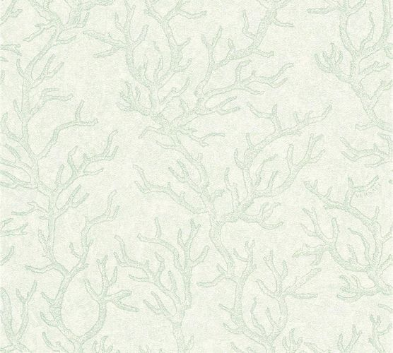 Wallpaper Versace Home coral green white metallic 34497-3