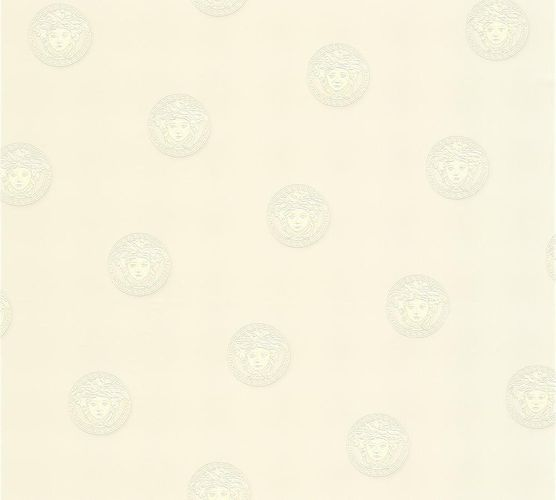 Tapete Versace Home Medusa Kopf weiß 34862-1 online kaufen