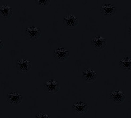 Wallpaper Versace Home Medusa black metallic 34862-2